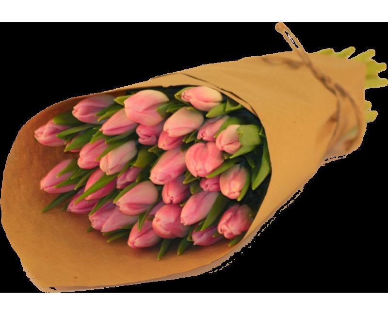 Как упаковать тюльпаны красиво с